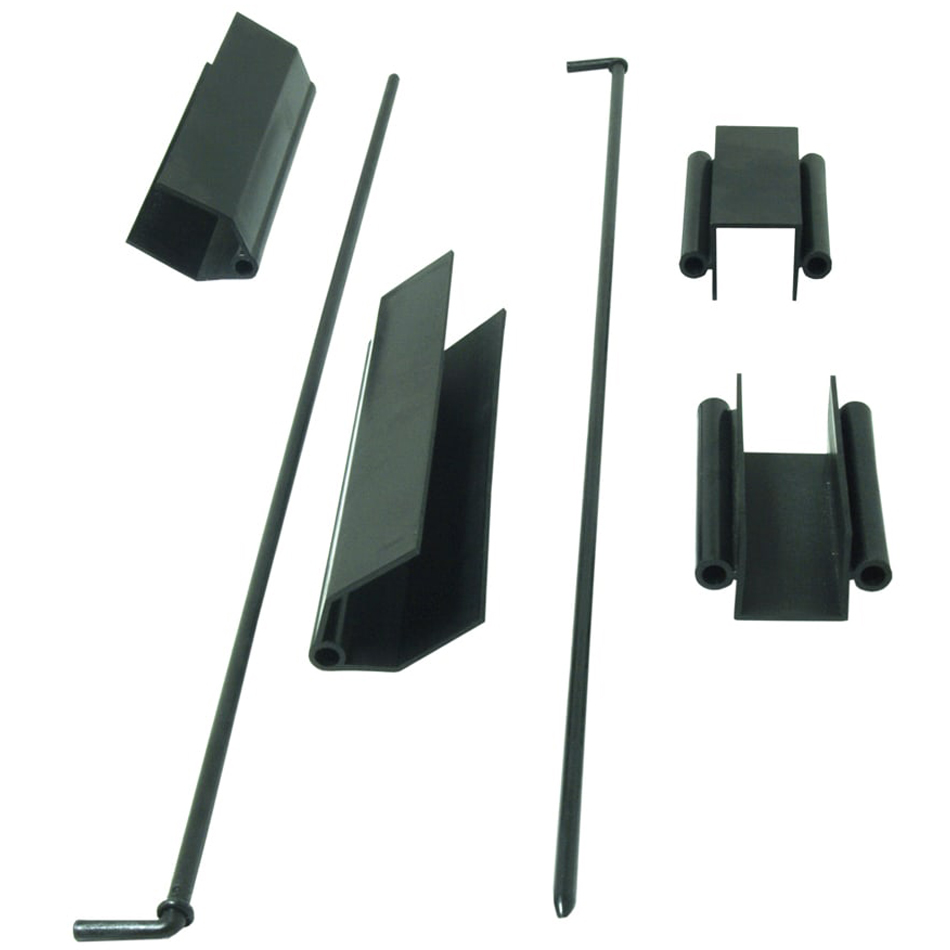 Plastic hinges front part